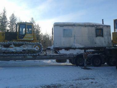 Перевозка негабаритного бульдозера Б10ПСМ (вес: 30 тонн)