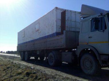Перевозка негабаритного мобильного склада для компании Baker Hughes