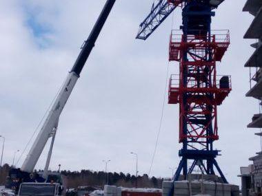Демонтаж башенного крана TDK-10.25