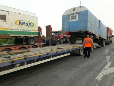 Перевозка негабаритных вагонов на шасси
