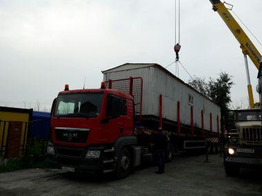 Перевозка негабаритного вагон-дома