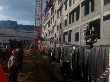 Монтаж теплоизоляции на здание Перинатального центра в г.Сургут